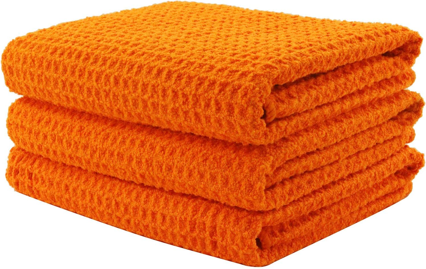 Aniease Microfiber Kitchen Towel, Super Absorbent Fast Drying Waffle Weave Dishcloths, Dish Drying Towels, Set of 3 Cleaning Cloths Hand Towels