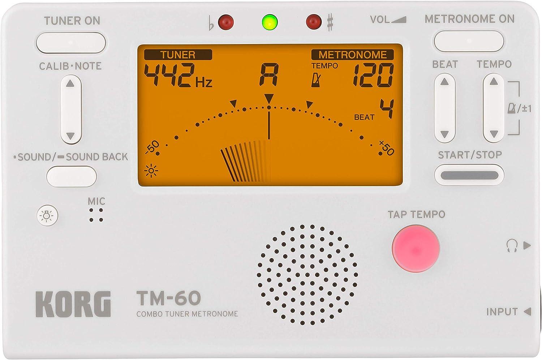 Korg TM60WH Metrónomo afinador, color blanco