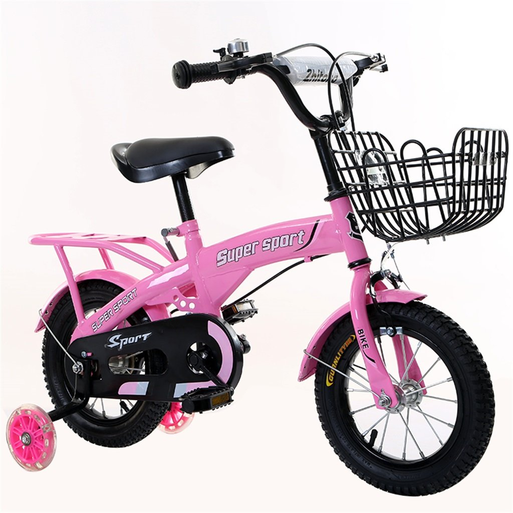 『5年保証』 子供の自転車12|14|16|18インチ屋外の子供赤ちゃんキッドマウンテンバイクフラッシュトレーニングホイールで3-9歳の男の子の女の子のギフト|アイアンバスケット|バックシートセーフピンク 16 16 inches inches B078GVD4DJ B078GVD4DJ, 大須賀町:3c02652c --- greaterbayx.co