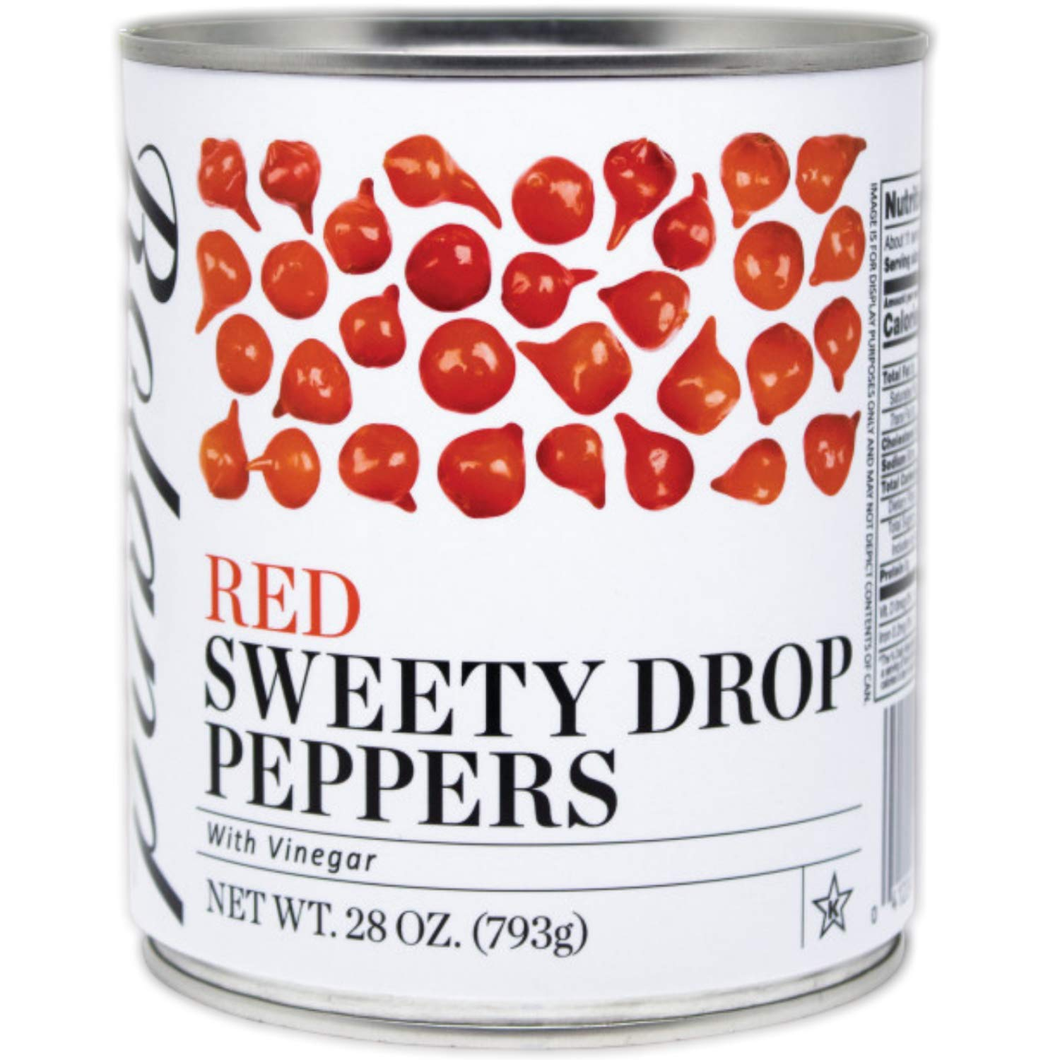 Roland Foods Red Sweety Drop Peppers, Specialty Imported Food, 28-Ounce Can