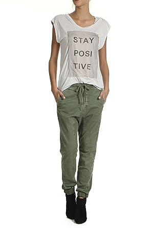 f0739ffae3f463 yaya Kurzarm-t-Shirt Jersey Patch Artwork Grau Silber  Amazon.de ...