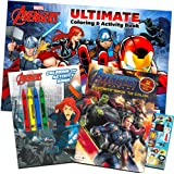 Marvel Avengers Coloring Book Super Set with Crayons (3 Jumbo Books Featuring Captain America, Thor, Hulk, Iron Man and…