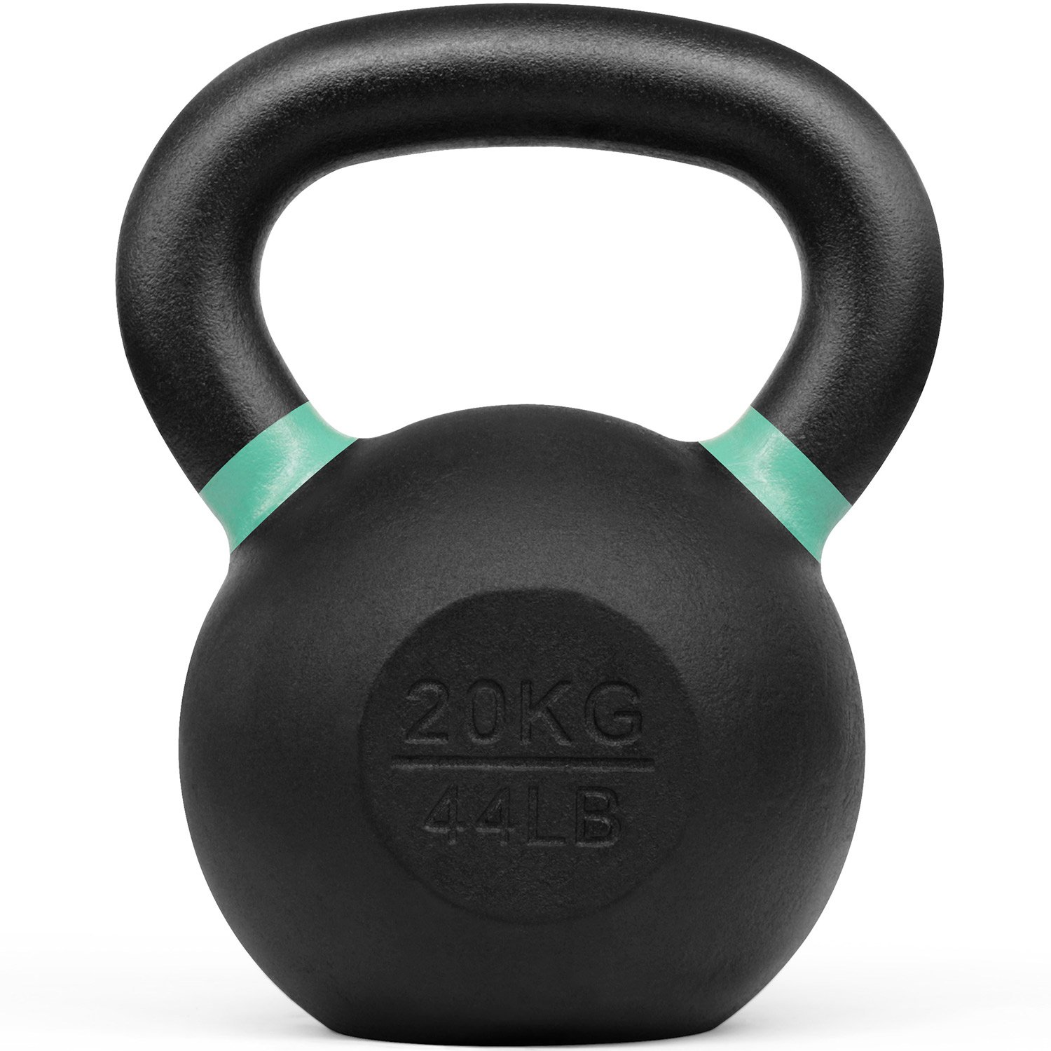 Yes4All Powder Coated Kettlebell Weights with Wide Handles & Flat Bottoms – 20kg/44lbs Cast Iron Kettlebells for Strength, Conditioning & Cross-Training