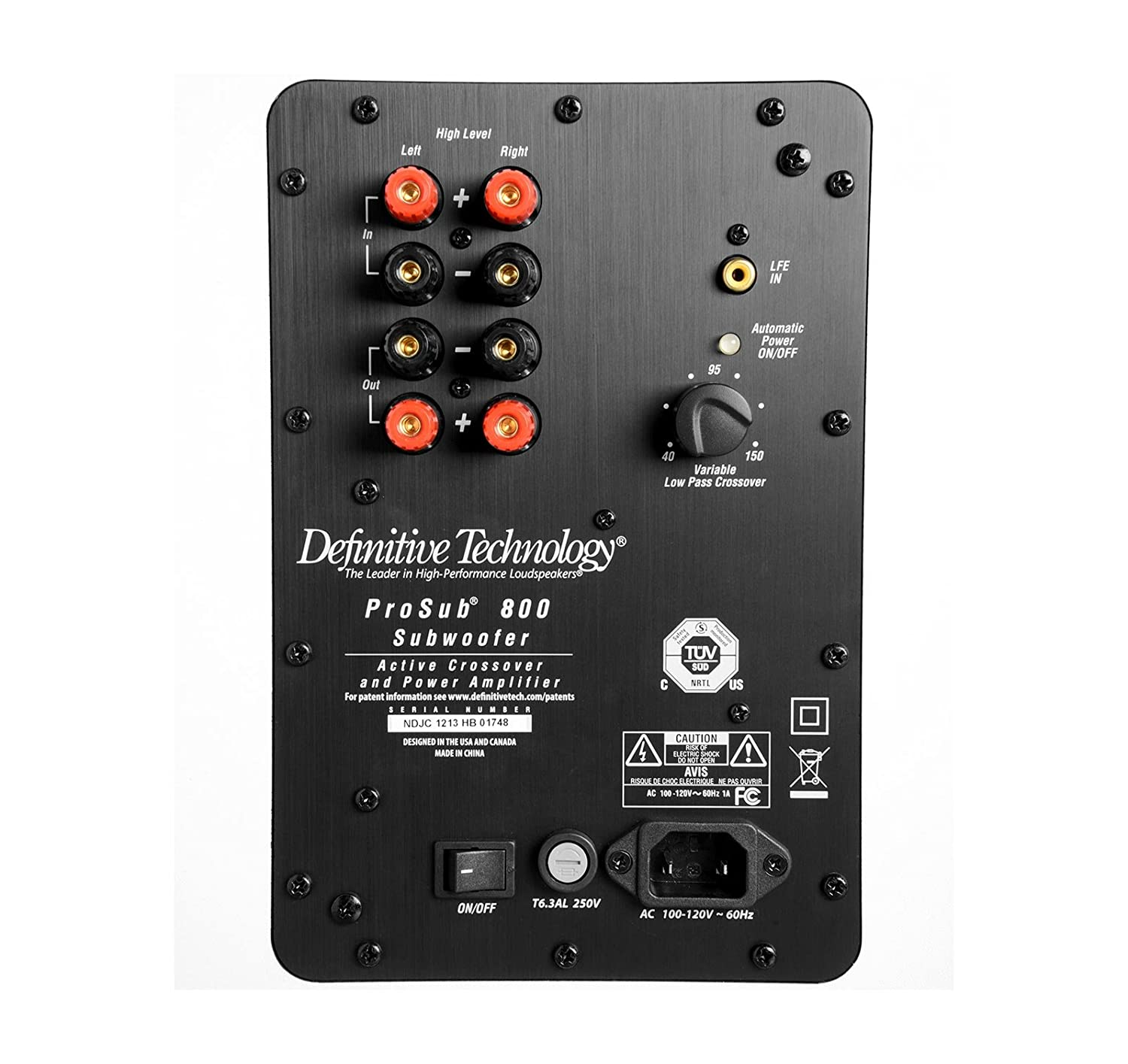 Definitive Technology Prosub 800 120v Speaker Single Circuit Was Designed For The Purpose Of Creating An Active Crossover Black Home Audio Theater