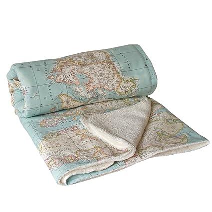 Manta Mapa - manta mapamundi - mapa mundo - manta azul - manta viaje - wiki