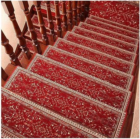 GYL Alfombras de escalera Alfombras for Escaleras, Sin Cola Autoadhesiva Paso Alfombra Antideslizante Hogar Sólido de Paso de Madera de La Escalera de La Alfombra Pegatinas Alfombras para escaleras: Amazon.es: Hogar