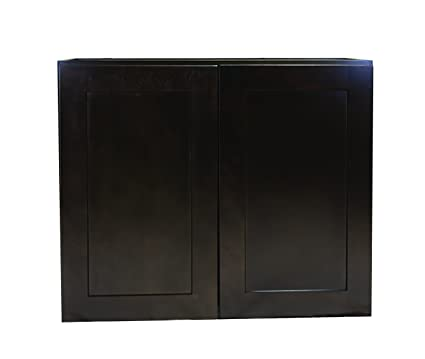 Design House 613885 Brookings 33 Fully Assembled Kitchen Wall Cabinet Espresso Shaker