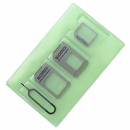 Tarjeta SIM Adaptador Kit especialmente diseñado para iphone 7 6 5 4 usuario, mientras tanto útil para Samsung Nokia HTC Huawei usuario etc