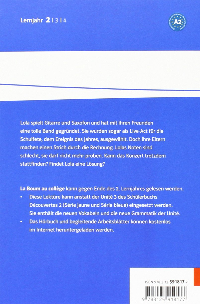 La Boum au collège: Hörbuch und Arbeitsblätter zum kostenlosen ...