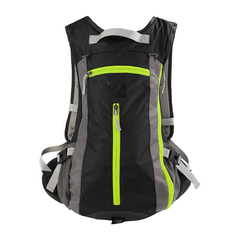 DEI QI アウトドアスポーツ ライディングバッグ バックパック 旅行バッグ 登山バッグ 軽量 持ち運び簡単  ブラック B07MQSQZ3S