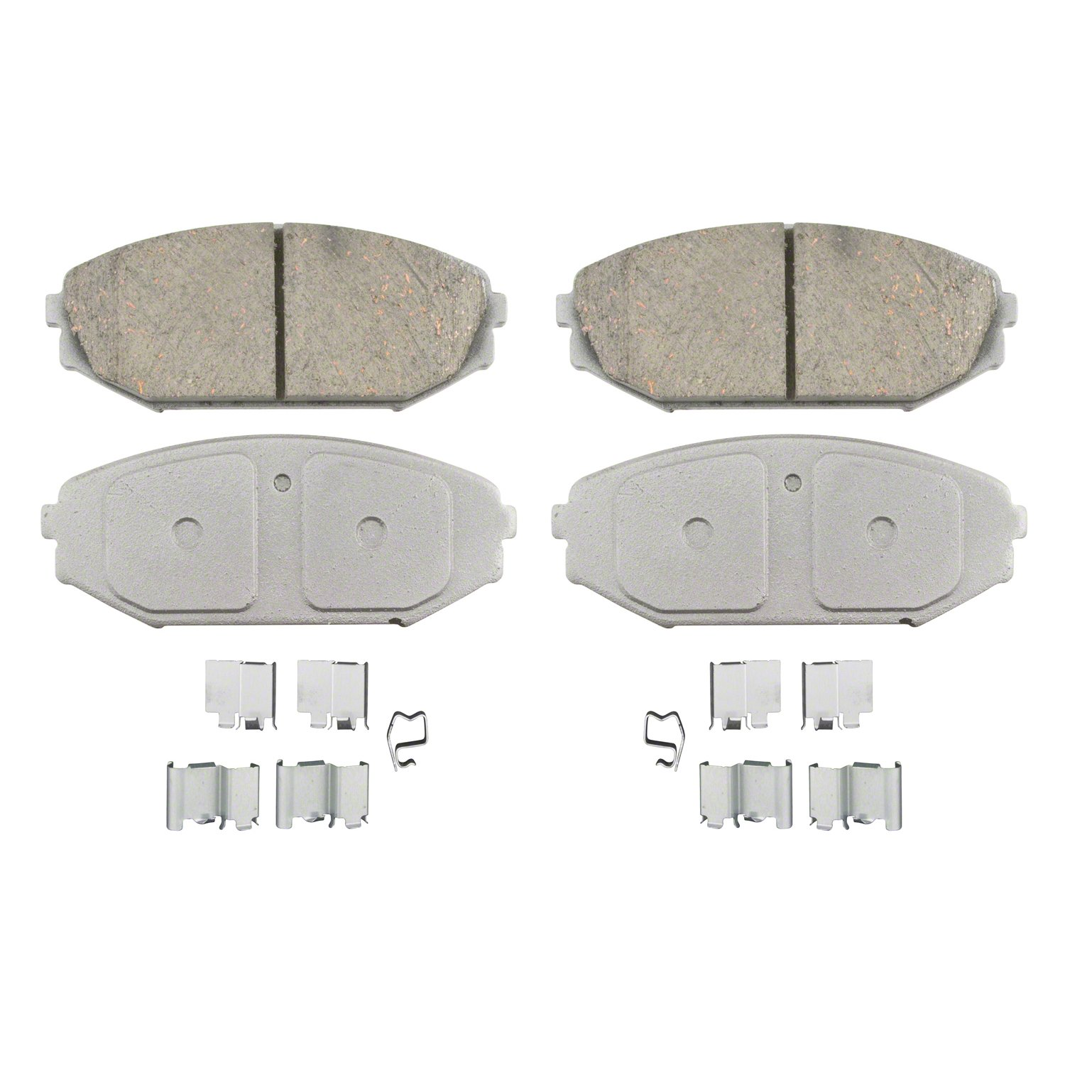 Wagner ThermoQuiet QC793 Ceramic Disc Pad Set With Installation Hardware, Front