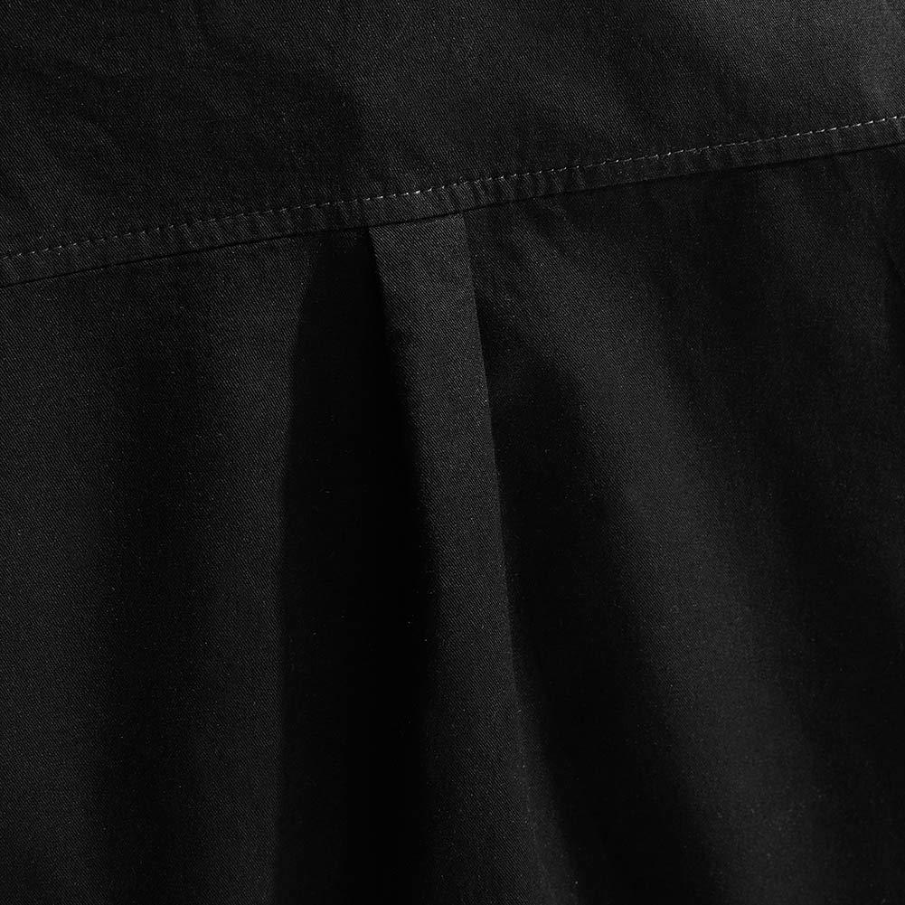 Spring/&Gege Boys Short Sleeve Solid Formal Cotton Twill Dress Shirts