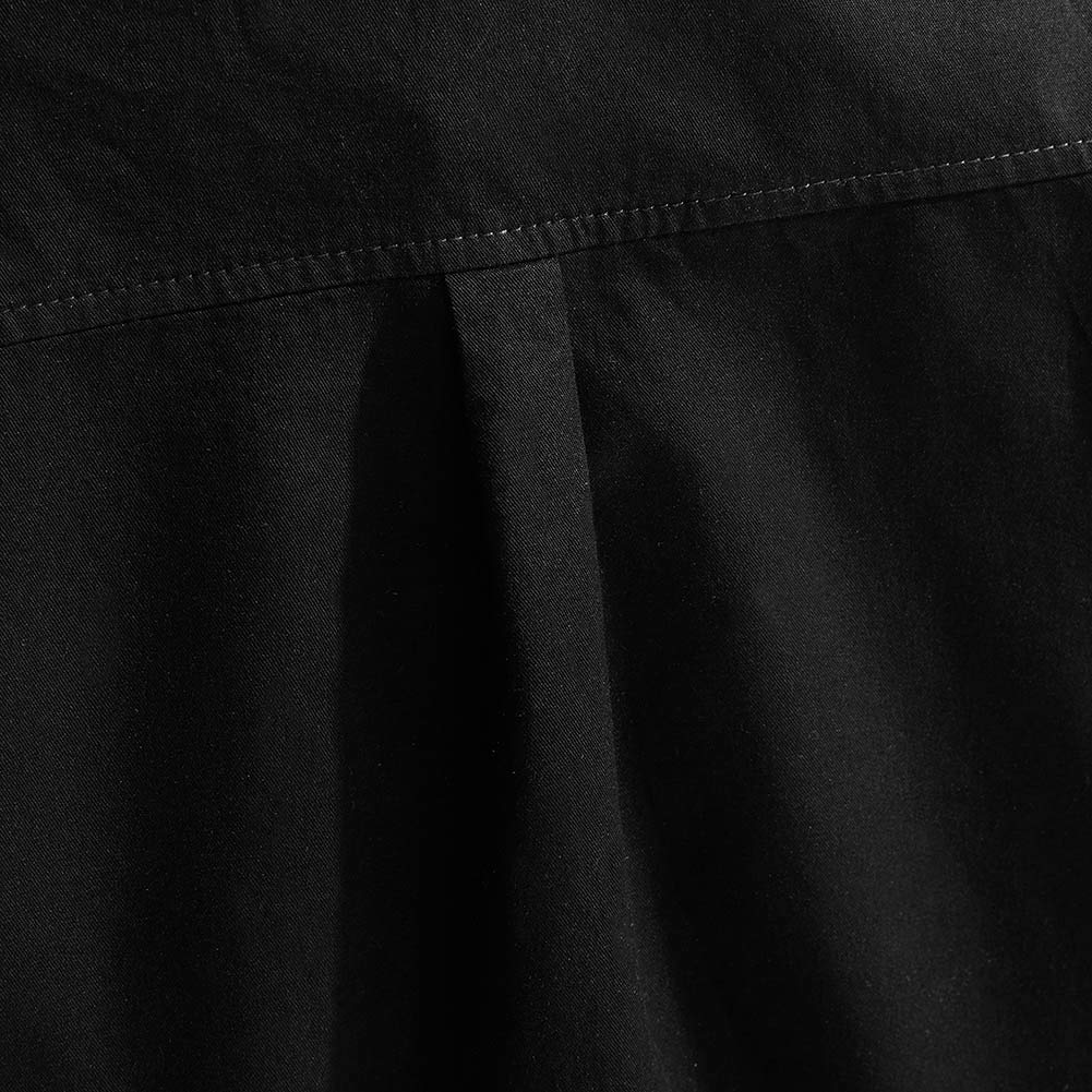 Spring&Gege Boys' Short Sleeve Solid Formal Cotton Twill Dress Shirts Black 5-6 Years by Spring&Gege (Image #7)