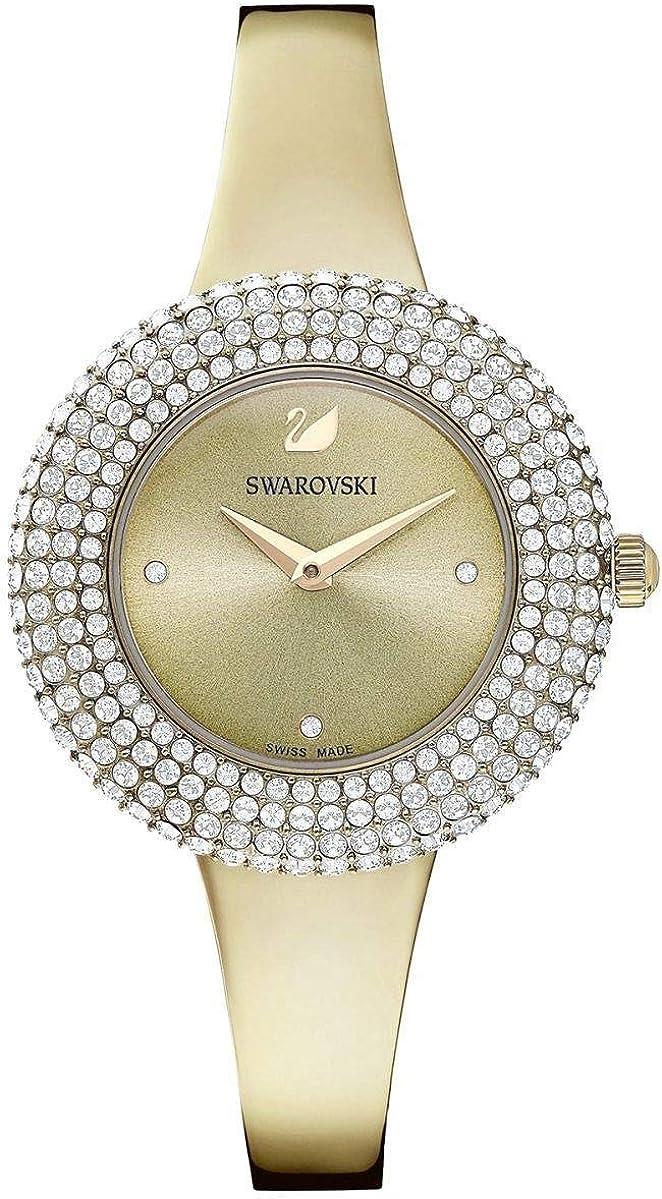 Reloj Swarovski 5484045 Crystal Rose MB PCG/Gray/PCG, Dorado con Brillantes