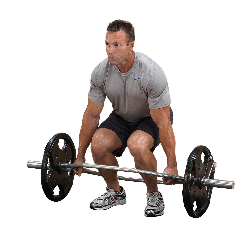 Body-Solid Olympic Shrug Bar, Chrome