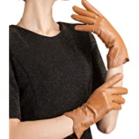 Nappaglo Nappa Leather Gloves Warm Handmade Curve Lambskin for Women