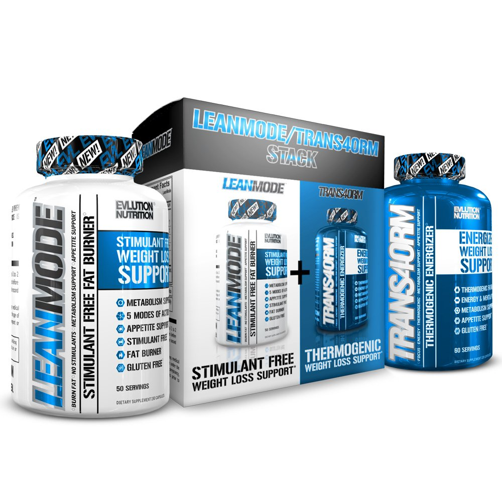 Evlution Nutrition Trans4ormation Mode Stack Trans4orm (60 Serving), Lean Mode (50 Serving) Weight Loss Diet Kit, Diet Pills for Men and Women by Evlution