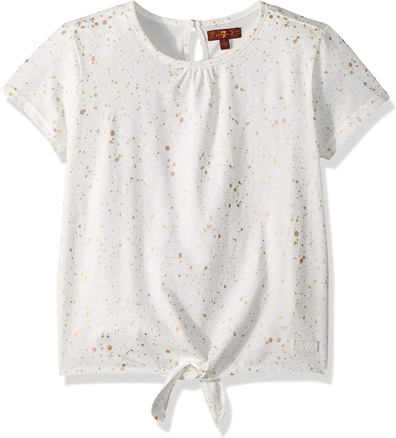 7 For All Mankind Girls Tie Front Tee