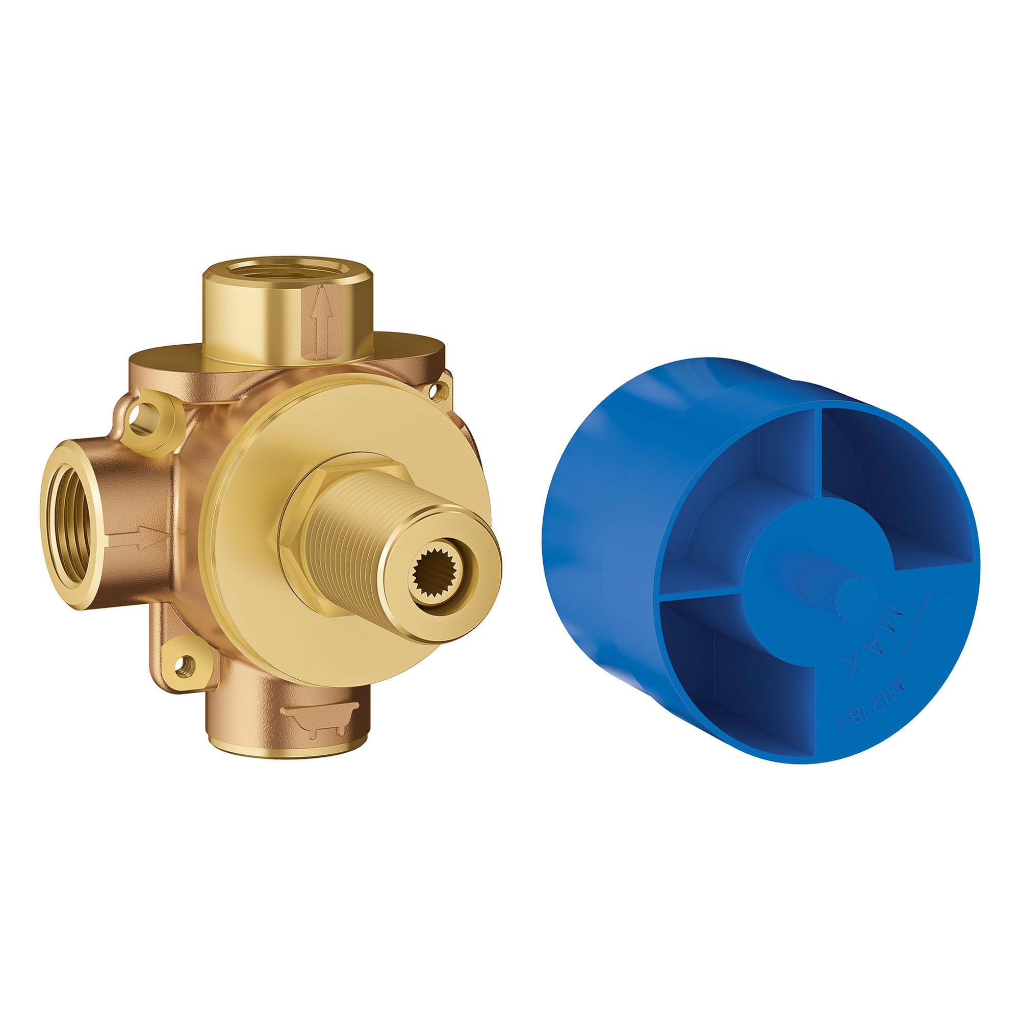 GROHE 29903000 Concetto 3-Way Diverter Rough-In Valve,,, Brass