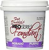 Fat Daddio's Fondant, Purple, 8 oz, Vanilla Flavor