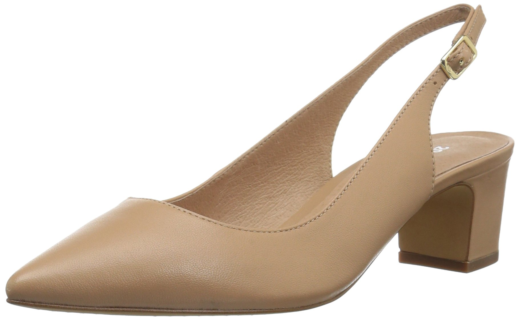 206 Collective Women's Laila Sling Back Dress Pump, Neutral Leather, 12 B US