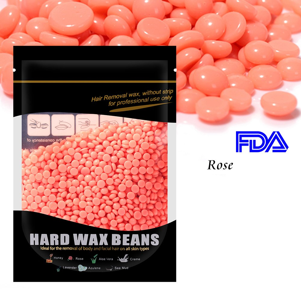 Waxkiss 300g Painless Wax Beans Home Wax Kit for Flawless Hair Removal (Rose)