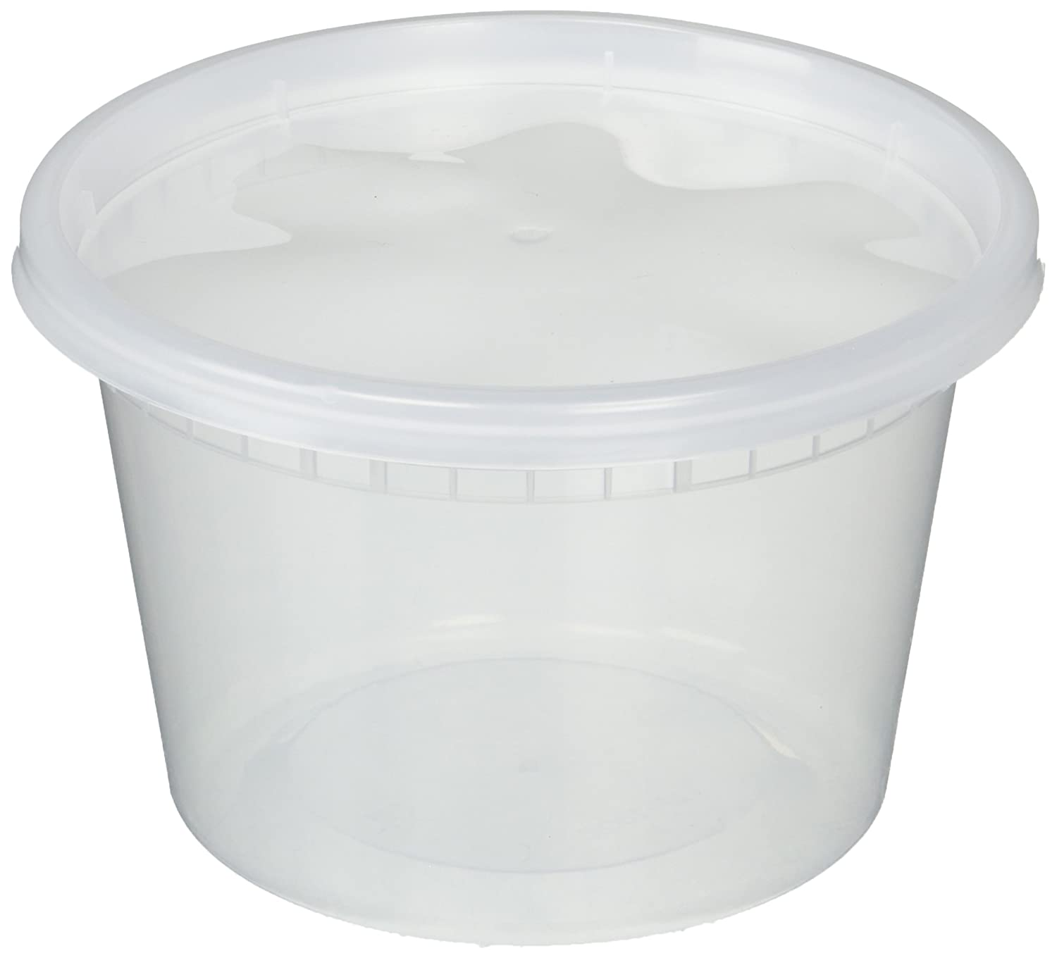 Deli Food Storage Containers with Lids, 16 Ounce, 50 Count made by DCS Deals