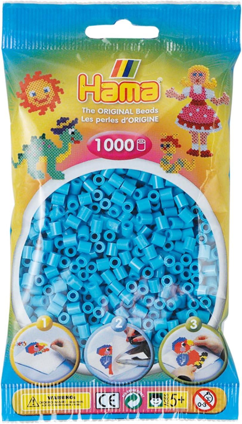 Azure Blue Hama 207-49 Beads 1,000 Bead Refill Bag