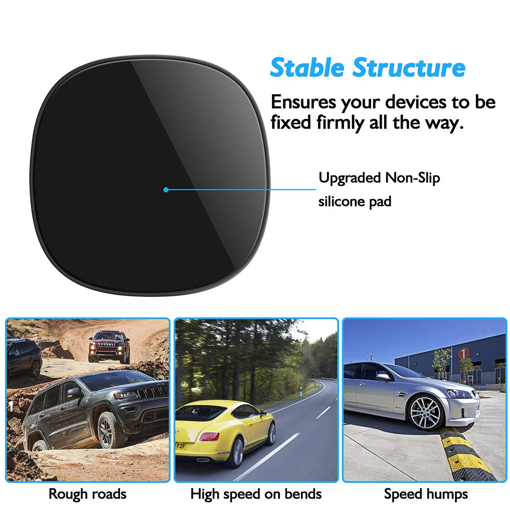 Phone Holder for Car 4352713881 GPS Besiva Car Phone Mount Silicone Phone Car Dashboard Car Pad Mat Various Dashboards Anti-Slip Desk Phone Holder Compatible with iPhone Android Smartphones Deep Black