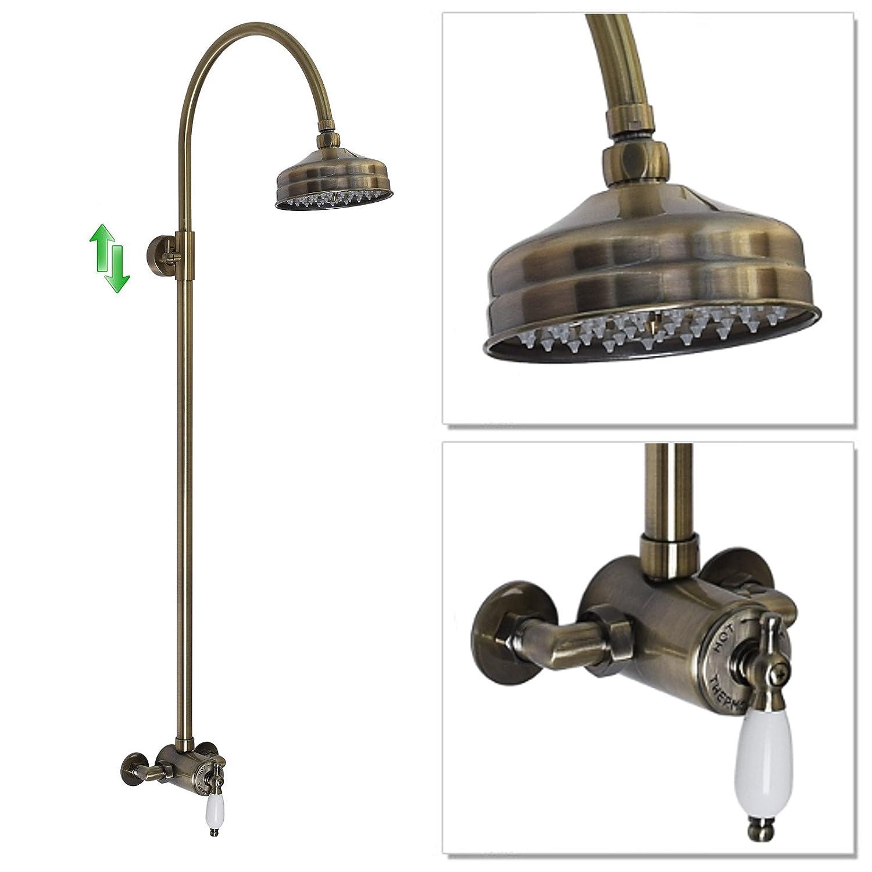 ENKI Sequential Thermostatic Shower Set Round 150mm Antique Bronze WINCHESTER