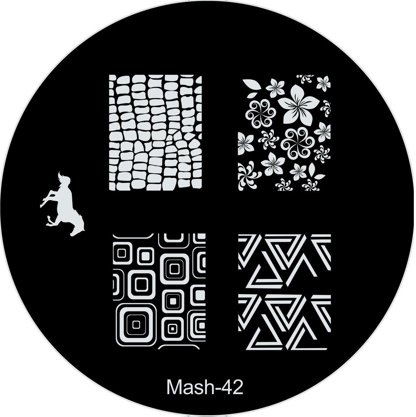 Amazon.com : MASH Nail Art Stamp Stamping Image Plate No 42 : Nail ...