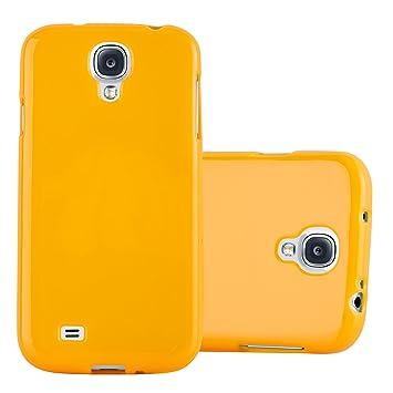 Cadorabo Funda para Samsung Galaxy S4 en Jelly Amarillo - Cubierta Proteccíon de Silicona TPU Delgada e Flexible con Antichoque - Gel Case Cover ...