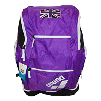 92c92f32da8 Arena Spiky 2 Large Backpack Purple/White + Union Jack Flag: Amazon.co.uk:  Sports & Outdoors