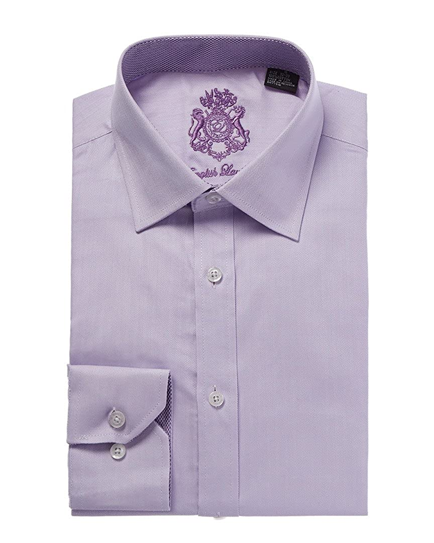 English Laundry Light Purple Herringbone Dress Shirt