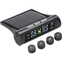 Entweg Sistema de monitoramento sem fio solar da pressão dos pneus do carro TPMS com 4 sensores externos