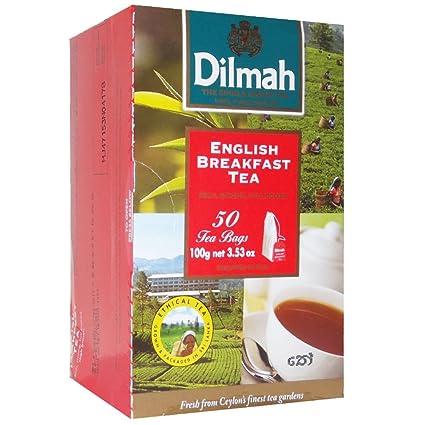 dilmah 100% puro bolsas de té, 50 Count, envueltos (Ceylon ...