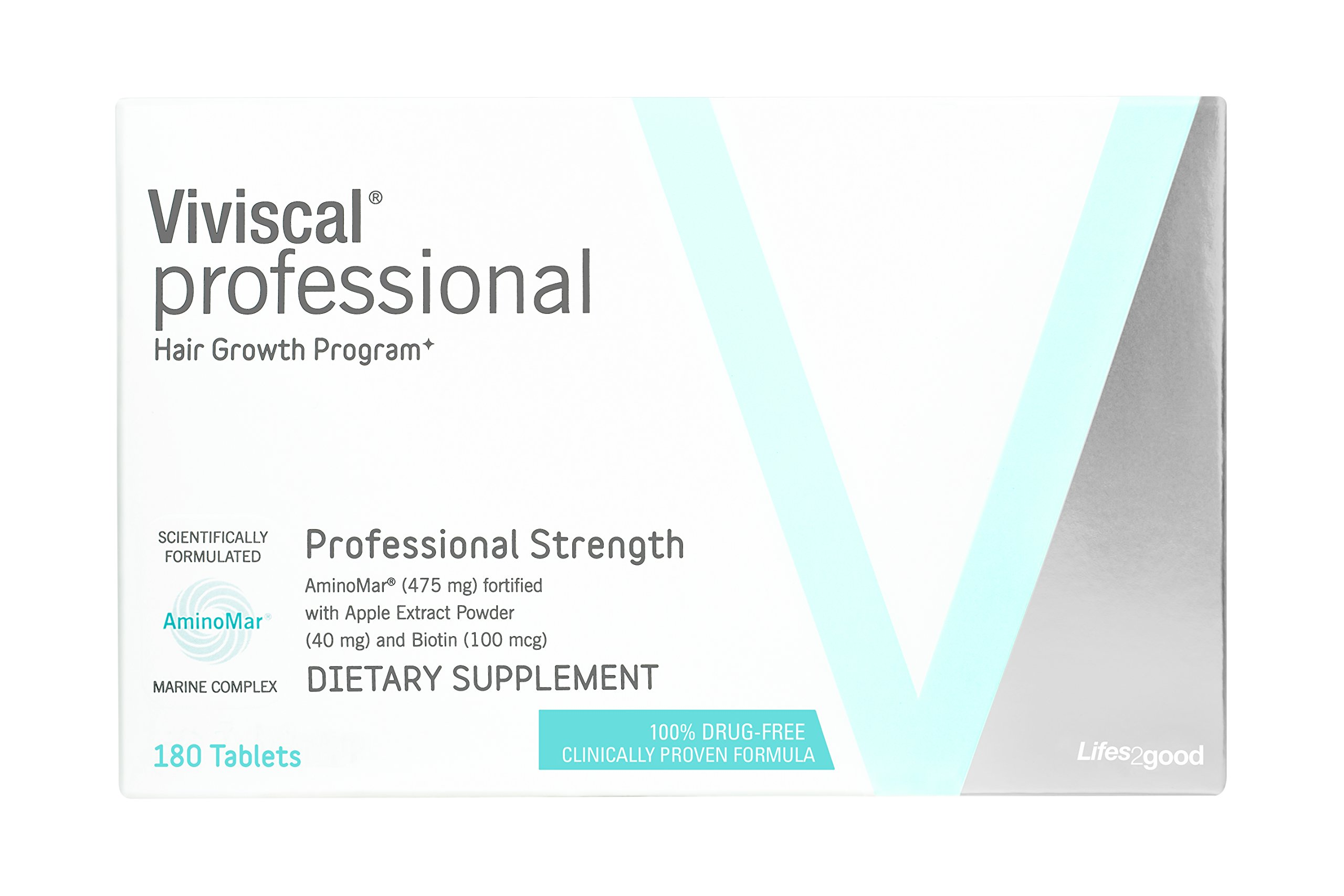 VIVISCAL PROFESSIONAL PRO: Hair Growth Dietary Supplement 180 tablets 90 Day Supply