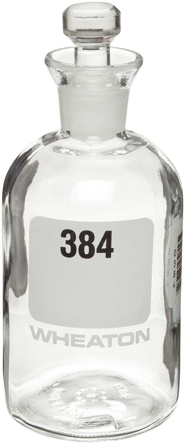 300mL Numbered 361-384 Wheaton 227497-16 BOD Bottle Robotic Stopper Case Of 24 69mm Diameter x 165mm Height