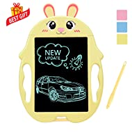 Best Birthday Gifts for Kids Age 2-10, LCD Writing Tabelt Electronic Doodle Pads Drawing Board for Boys-Girls Travel Toys for 2-9 Years Old Kids Presents for Boys Age 3 4 5 6 Boogie Toys Board Yellow
