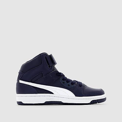 Puma - Zapatillas de baloncesto para niña Azul Navy 38: Amazon.es: Zapatos y complementos