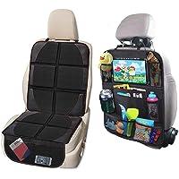 Protector de asiento de coche y organizador de asiento de coche, protege la tapicería del coche de los asientos…