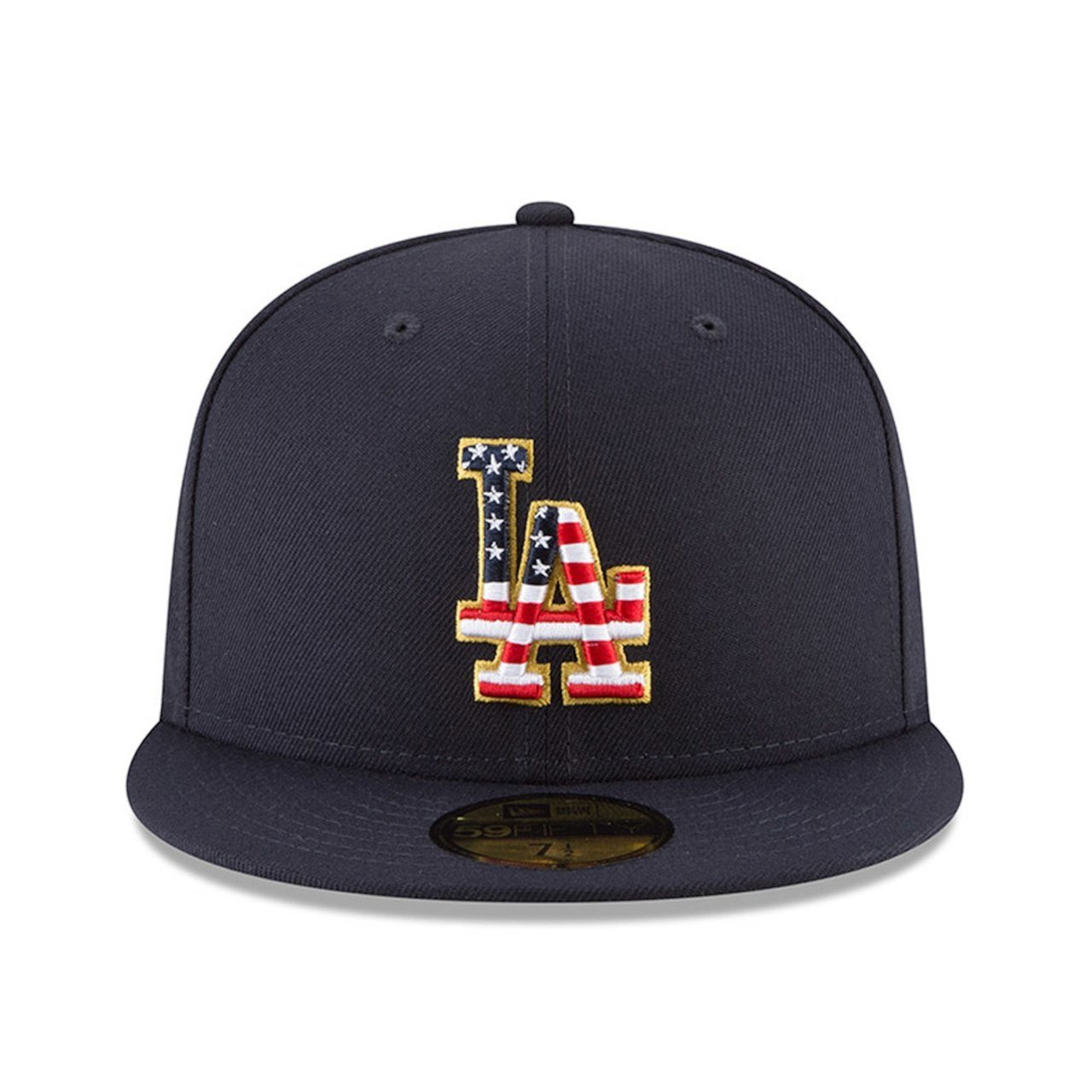 newest collection b9ed6 cbd1b Amazon.com  New Era Los Angeles Dodgers Navy 4TH of July Cap 59fifty 5950  Fitted MLB Limited Edition  Clothing