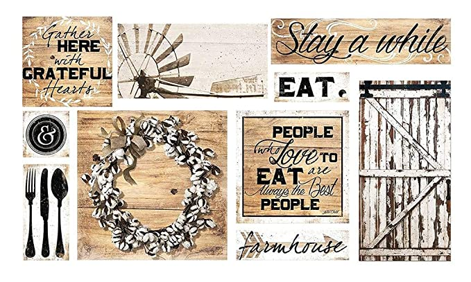 Image Unavailable Not Available For Color Farmhouse Dining Wall Art