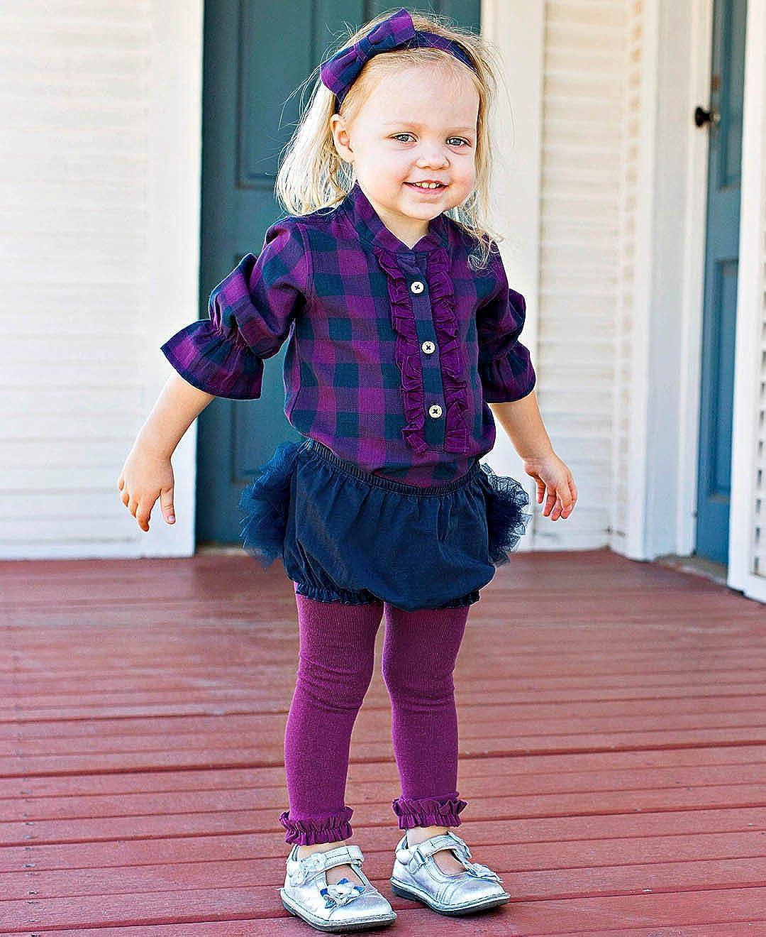 RuffleButts Baby//Toddler Girls Knit Diaper Cover Tutu Bloomer w//Frilly Mesh Ruffles