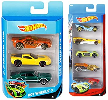 Mattel Hot Wheels (3 pack) Design may vary + Hot Wheels Five Car Gift Pack Assortment Colors…