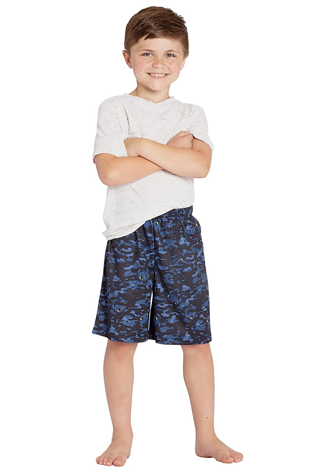 INTIMO Boys How to Train Your Dragon Camouflage Pajama Shorts