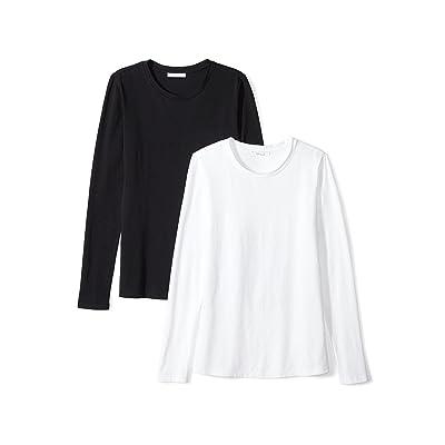 Brand - Daily Ritual Women's Stretch Supima Long-Sleeve Crew Neck T-Shirt: Clothing