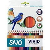 Lápis de Cor Redondo, Sivo, Vivid Premium, 52.5900, 36 Cores