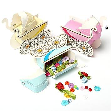 Caja de Regalo para Cochecito de bebé, 10 Unidades, para Boda, Baby Shower, Fiesta, decoración de Cajas de Regalo: Amazon.es: Hogar