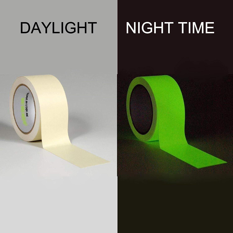 Glow In The Dark Sticky Tape Self Adhesive Luminous Saftey Film Sticker Roll W